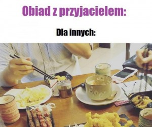 Obiad z przyjacielem