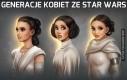 Generacje kobiet ze Star Wars