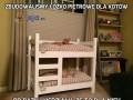 Zbudowaliśmy łóżko piętrowe dla kotów