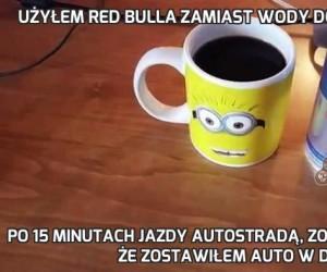 Użyłem Red Bulla zamiast wody do zalania kawy