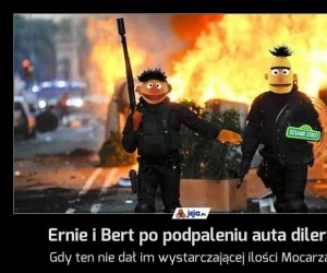 Ernie i Bert po podpaleniu auta dilera
