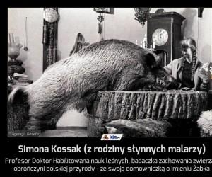 Simona Kossak (z rodziny słynnych malarzy)