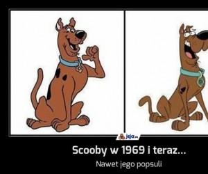 Scooby w 1969 i teraz...