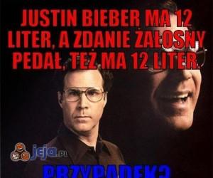 Justin Bieber ma 12 liter