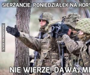 Sierżancie, poniedziałek na horyzoncie!