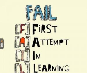 Porażka jest pierwszym podejściem w toku nauki