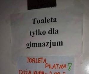 Toaleta dla gimbusów