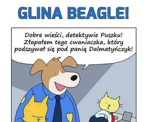 Glina Beagle i przebieraniec
