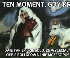 Ten moment, gdy krowa...