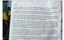 List do złodzieja w schowku skradzionego auta