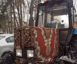 Żeby traktor nie zmarzł