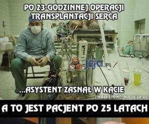 25 lat po transplantacji serca