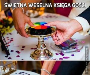 Świetna weselna księga gości