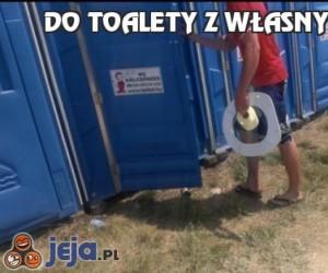 Do toalety z własnym sprzętem
