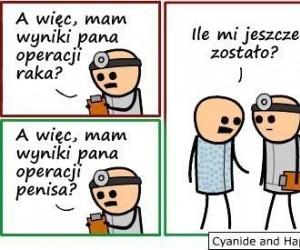 Operacja raka vs operacja penisa