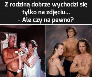 Z rodziną na zdjęciu