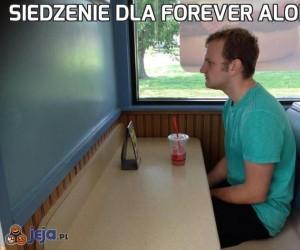 Siedzenie dla forever alone