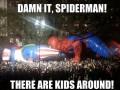 Spiderman, tu są dzieci!