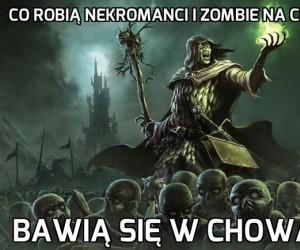 Nekromanci i zombie na cmentarzu
