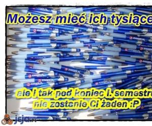 Zapas długopisów