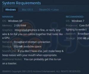 Takie tam wymagania