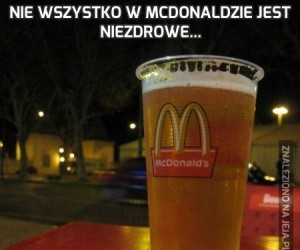 Nie wszystko w McDonaldzie jest niezdrowe...