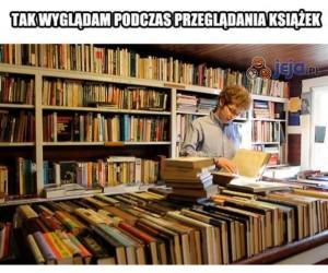 Ja podczas przeglądania książek