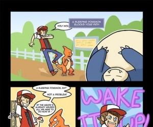 Śpiący pokemon? Pf!