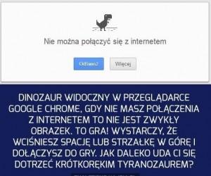 Gdy nie ma połączenia w Google Chrome