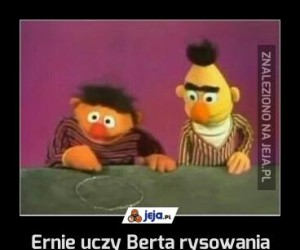 Ernie uczy Berta rysowania pentagramu