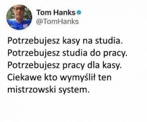 Tom Hanks mówi jak jest