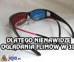 Dlatego nie chodzę do kina na filmy 3D