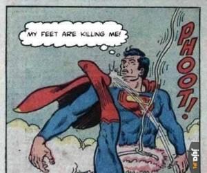 Moje stopy mnie zabijają!
