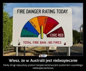 Wiesz, że w Australii jest niebezpiecznie