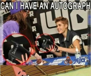 Mogę autograf?