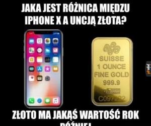 Iphone vs złoto