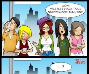 Nowoczesne telefony nie dla hipsterów