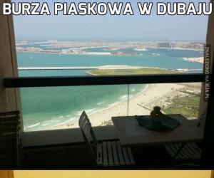 Burza piaskowa w Dubaju