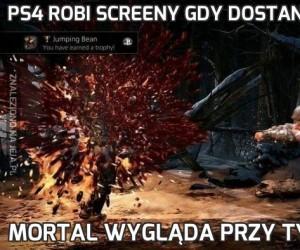 PS4 robi screeny gdy dostaniesz trofeum