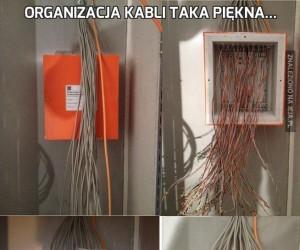 Organizacja kabli taka piękna...