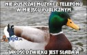 Nie puszczaj muzyki z telefonu w miejscu publicznym