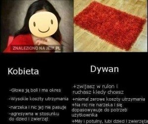 Kobieta vs dywan