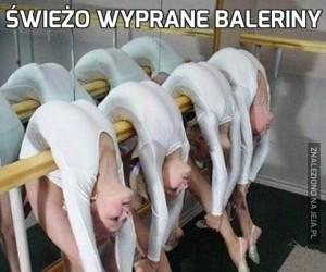 Świeżo wyprane baleriny