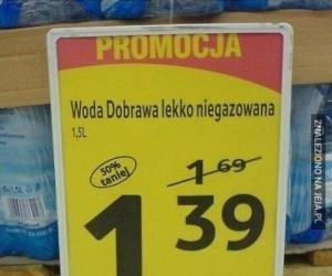 Lekko niegazowana za pół ceny