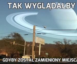 Tak wyglądałby Saturn