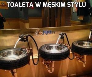 Toaleta w męskim stylu