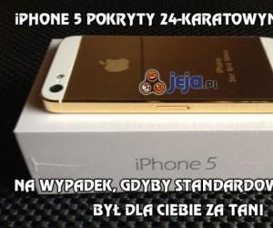 iPhone 5 pokryty 24-karatowym złotem