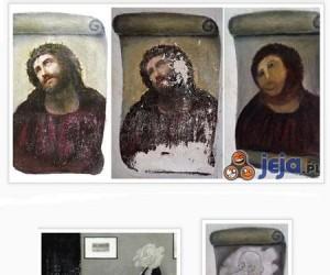 Jezus z Borja - internauci też chętnie odrestaurowali ten obraz