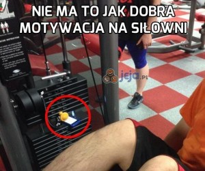 Nie ma to jak dobra motywacja na siłowni