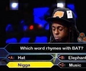 Które słowo rymuje się z BAT?